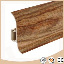 Decorative baseboard molding for vinyl floor