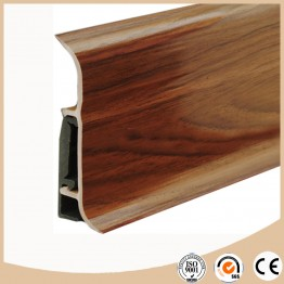 Soft formed pvc skirting board / baseboard molding