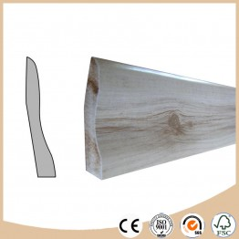 Laminate baseboard molding for flooring