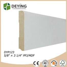 Decorative MDF Wooden Skirting board / Baseboard molding for Flooring