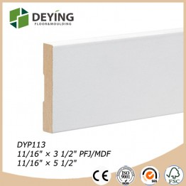 White Gesso Primed Wood Flat Door Jamb