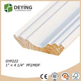 Interior primed timber wooden crown molding