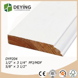 Primed wooden skirting trim base board molding