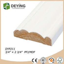 Primed light weight finger joint pine wood moulding