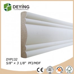 Primed interior wooden decoration building moulding material