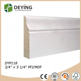 Painted Wall Skirting Wood Molding
