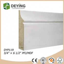 water base primed mdf baseboard moulding