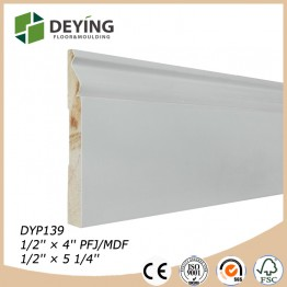 White primed baseboard moulding for flooring decoration