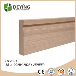 MDF veneer skirting board