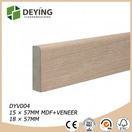 MDF veneered skirting board