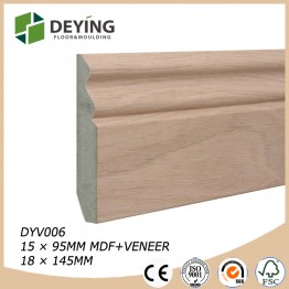 MDF veneered oak skirting