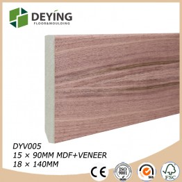 MDF veneered walnut skirting bord