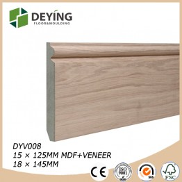 MDF oak veneered skirting board suppliers