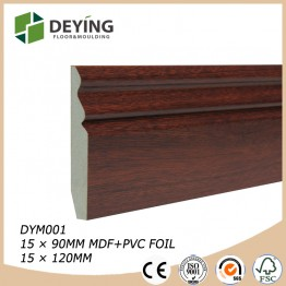 MDF Wrapped PVC Skirting Board